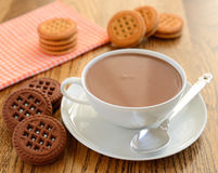 Varma choklad och kakor Arkivfoto