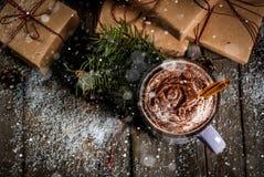 varma chokladjulgåvor Arkivfoton
