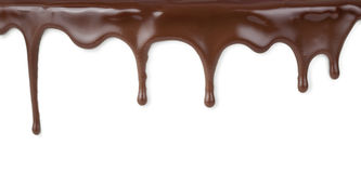 Varma chokladströmmar Arkivfoton