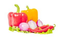 Varma kryddor, grönsaker Arkivbilder