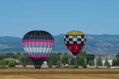 varma luftballons Arkivfoton