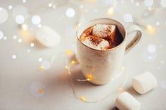 varma marshmallows för choklad Royaltyfri Bild