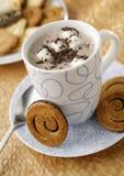 varma marshmallows för choklad Arkivbild