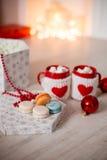 varma marshmallows för choklad Arkivbilder