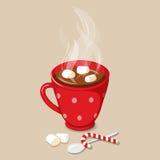 varma marshmallows för choklad stock illustrationer