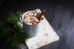 varma marshmallows för choklad Fotografering för Bildbyråer