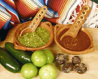 varma mexikanska såser Arkivfoton
