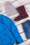 Varma och bekväma kläder Arkivbilder