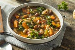 Varma organiska hemlagade 10 Bean Soup Arkivbilder