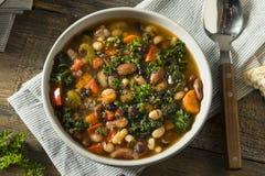 Varma organiska hemlagade 10 Bean Soup Royaltyfria Bilder