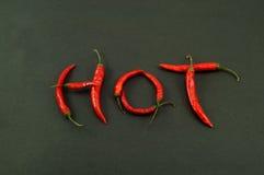varma peppar för chili Royaltyfria Foton