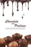 varma pralines för choklad Arkivbilder