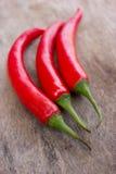 Varma röda chili- eller chilipeppar Royaltyfria Foton