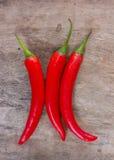 Varma röda chili- eller chilipeppar Royaltyfri Fotografi