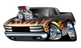 Varma Rod Pickup Truck Illustration vektor illustrationer