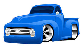 Varma Rod Pickup Truck Illustration Arkivbild