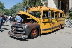 Varma Rod School Bus Royaltyfri Fotografi