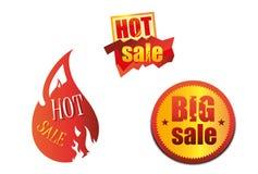 Varma Sale handelsymboler Arkivbilder