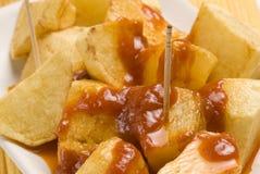 varma tapas för potatissåsspanjor Arkivbilder