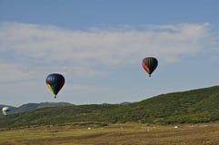 3 varmluftsballonger Arkivbilder
