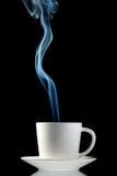 varmt ånga för kaffekopp Arkivfoton