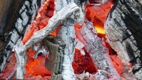 Varmt bränningbrand i nedgång Arkivfoton