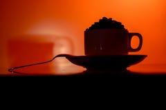 Varmt Drinks/kaffe fotografering för bildbyråer