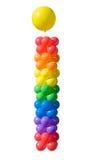 varmt färgrikt utklipp för luftbollar Royaltyfria Foton