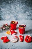 Varmt funderat vin för jul fotografering för bildbyråer