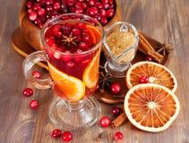 Varmt funderat vin med tranbär Royaltyfri Foto