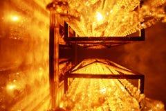 Varmt gult ljus för ljus lampsï¼› Royaltyfri Fotografi