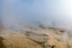 Varmt land i Rupite i Bulgarien Fotografering för Bildbyråer
