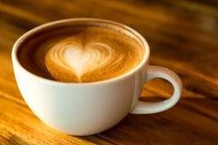 Varmt lattekaffe Arkivfoton