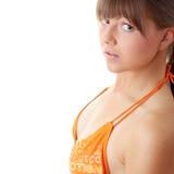 varmt model starkt för stor bikini Royaltyfri Bild