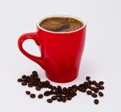Varmt morgonkaffe som vaknar upp med kaffe Fotografering för Bildbyråer
