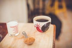 Varmt nytt kaffe Arkivbild