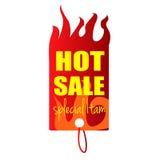 Varmt objekt för försäljningsetikettssakkunnig Royaltyfri Fotografi