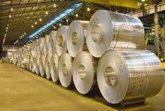 Varmt - rullande aluminiumspolar Fotografering för Bildbyråer