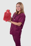 varmt sjuksköterskavatten för flaska Royaltyfri Fotografi