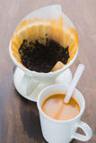 Varmt te med mjölkar Arkivbilder