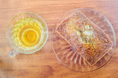 Varmt te och bageri Fotografering för Bildbyråer