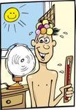 varmt väder för pojke vektor illustrationer
