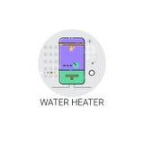 Varmvatten Heater Household House Heating Icon Arkivfoton
