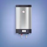Varmvattenbehållare, pläterad krom Royaltyfria Foton