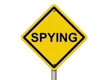 Varna av att spionera Arkivbild