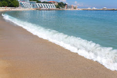 Varna beach on Black sea Royalty Free Stock Photography
