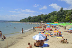 Varna beach view,Bulgaria Royalty Free Stock Photos
