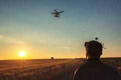 Varna Bułgaria, Czerwiec, - 23, 2015: Latający trutnia quadcopter Dji Pha Zdjęcia Royalty Free