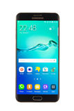 Varna Bułgaria, Październik, -, 04, 2016: Samsung galaktyki S6 Edge+ smartphone Fotografia Stock