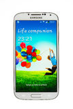Varna Bułgaria, Czerwiec, - 19, 2013: Telefonu komórkowego Samsung wzorcowa galaktyka Obrazy Stock